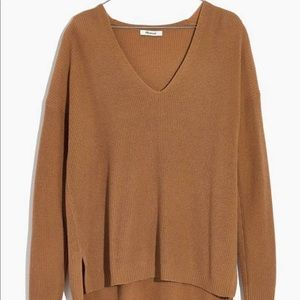 madewell knit v neck sweater